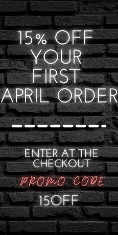15% OFF YOUR FIRST APRIL ORDER