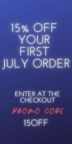 15% OFF YOUR FIRST JULY ORDER