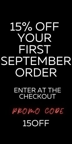 15% OFF YOUR FIRST SEPTEMBER ORDER
