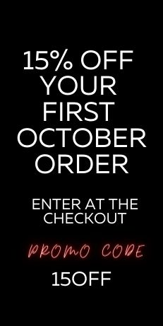 15% OFF YOUR FIRST OCTOBER ORDER
