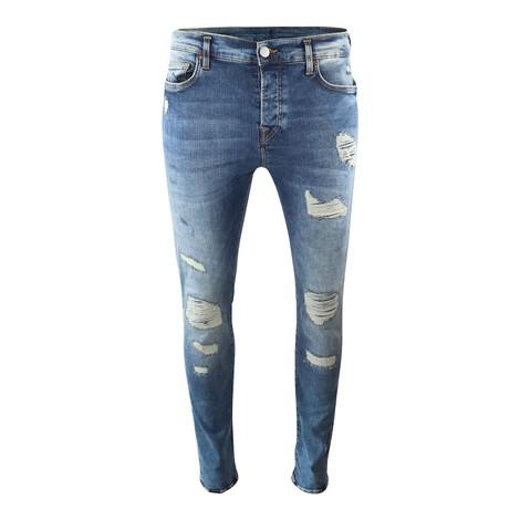 True Religion Rocco Biker Patches Jeans