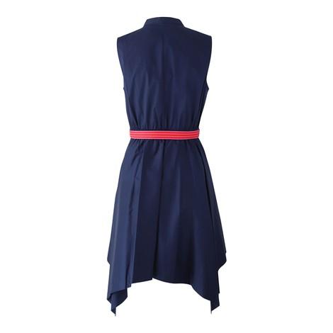 DVF Marlene Cotton Asymmetrical Hem Dress