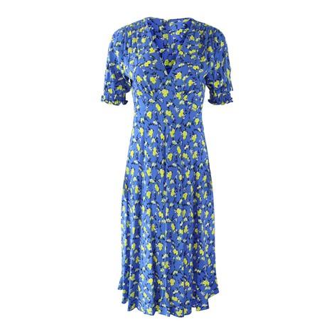 DVF Jemma Floral Midi Tea Dress