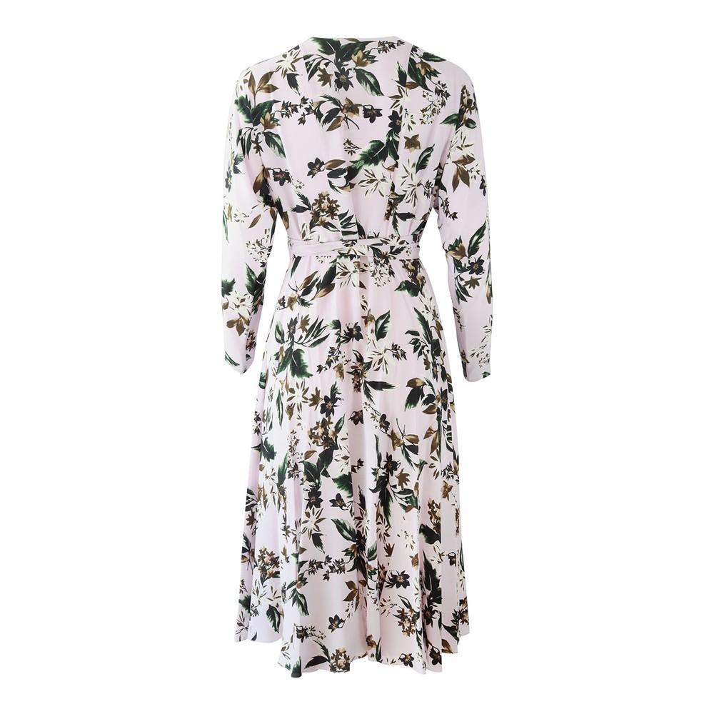 DVF Elle Caribbean Floral Lavender Dress Lilac