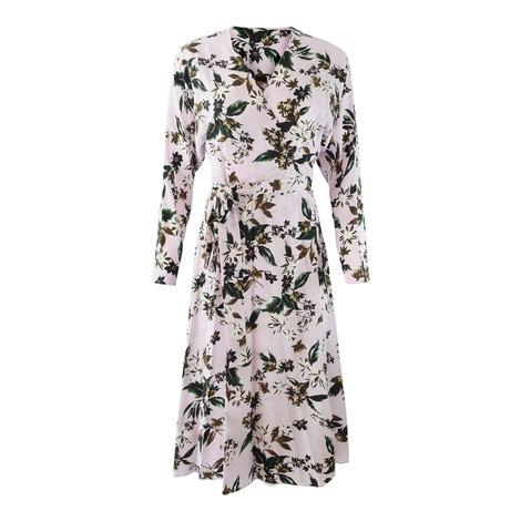 DVF Elle Caribbean Floral Lavender Dress