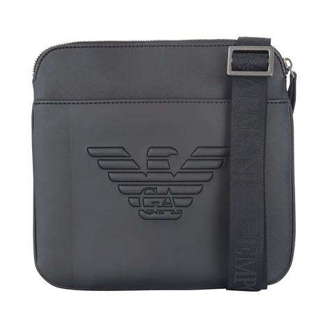 Emporio Armani Small Flat Shoulder Bag with Eagle Maxi Logo