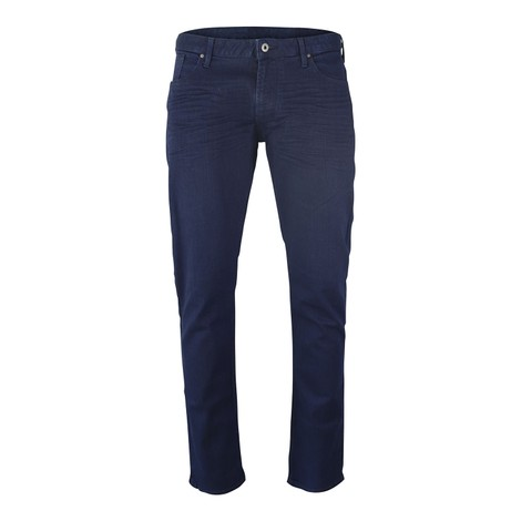 Emporio Armani J06 Slim-Fit Stretch Cotton Denim Mid Blue