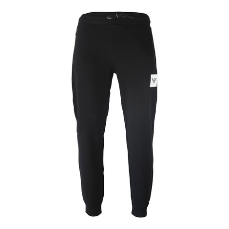 Emporio Armani Fleece Trousers - Stitched Eagle Patch