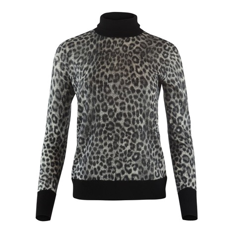 Michael Kors Cheetah Turtle Neck Sweater