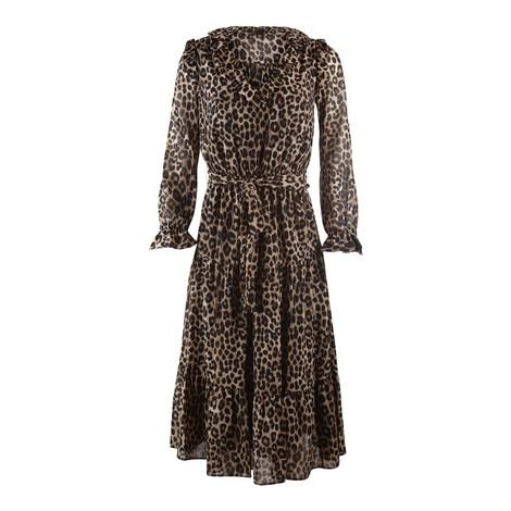 Michael Kors Cheetah Tiered Dress