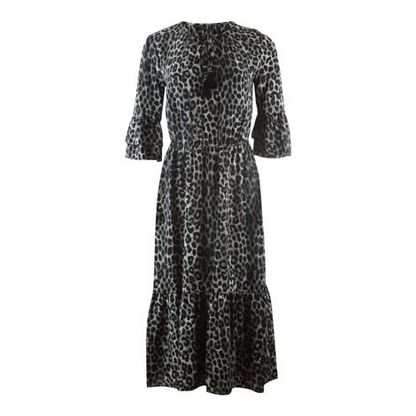 Michael Kors Gunmetal Grey Cheetah Print Dress
