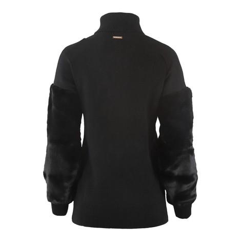 Michael Kors Fur Sleeve Turtle Neck Sweater