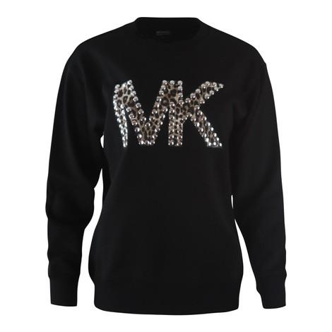 Michael Kors Cheetah MK Logo Sweatshirt