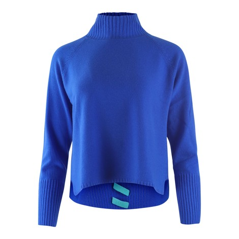 Cocoa Cashmere Electric Blue Cashmere Turtle Neck Knit