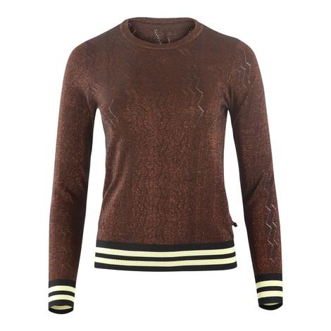 Scotch & Soda Pullover knit lurex and striped rib