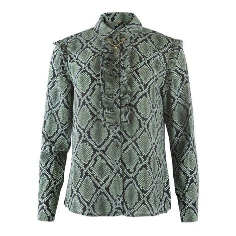 Scotch & Soda Printed ruffle detail blouse
