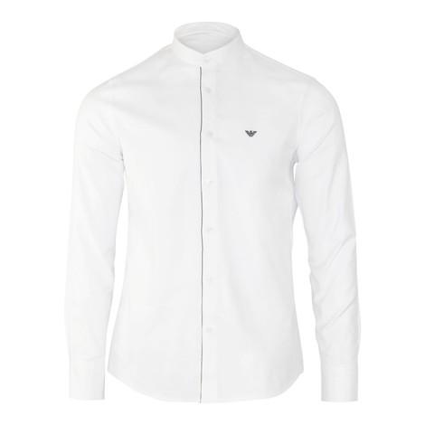 Emporio Armani Cotton Twill Shirt with Detachable Double Collar