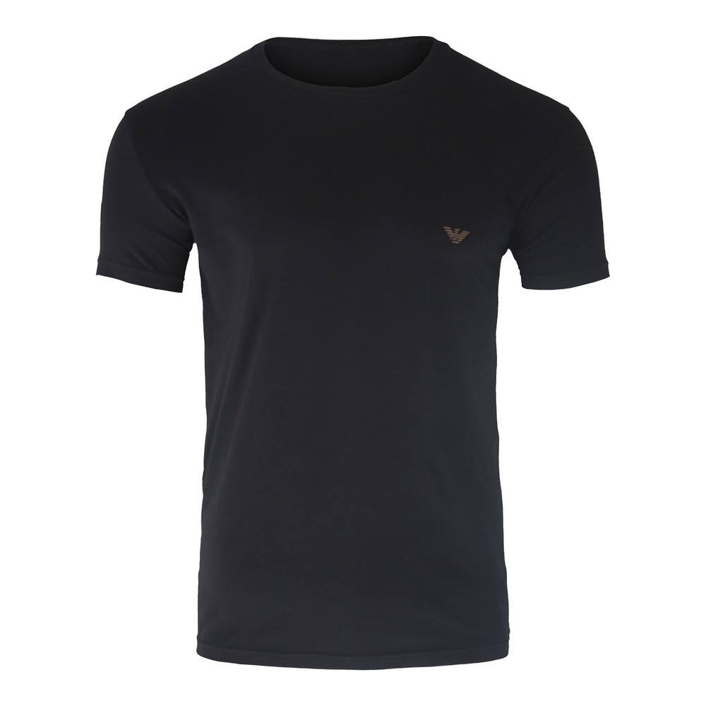 Emporio Armani Stretch T-Shirt - Eagle Back Logo Black