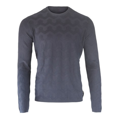 Emporio Armani Crew-Neck Sweater Inlaid Pattern