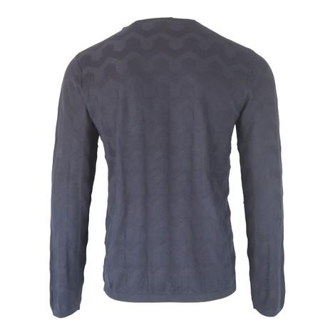 Emporio Armani Crew-Neck Sweater Inlaid Pattern