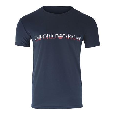 Emporio Armani Mega Logo Crew T-Shirt