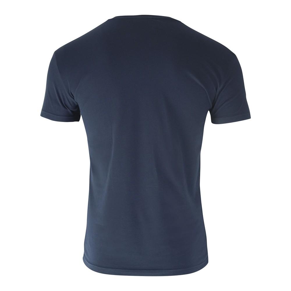 Emporio Armani Mega Logo Crew T-Shirt Navy