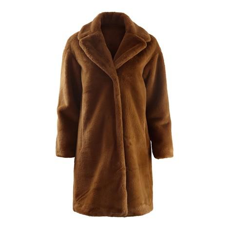 Set Toffee Faux Fur Coat