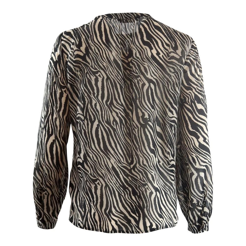 Set Zebra Print Blouse Black & White