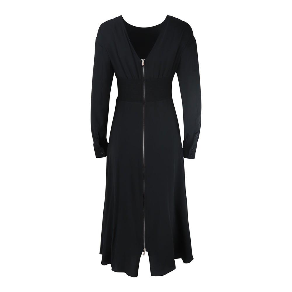 Sportmax Code Anzio Long Sleeve Midi Zip Back Dress Black