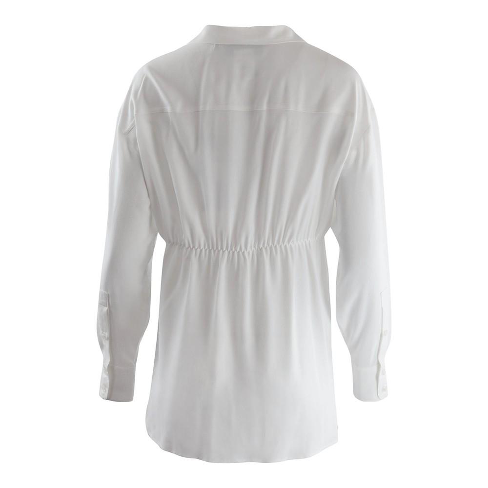 Sportmax Code Sevrio Longsleeve Silky Blouse White