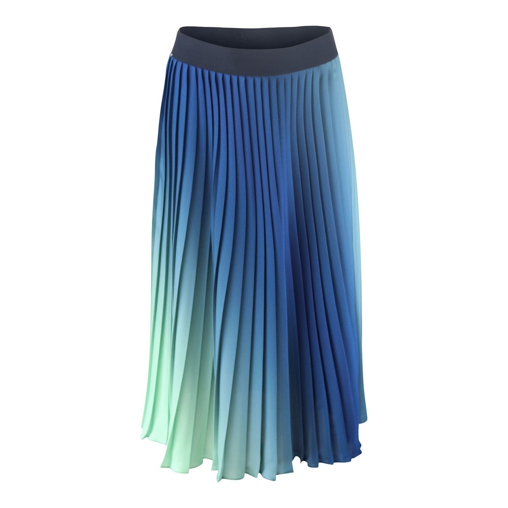 Sportmax Code Voliera Pleated Skirt Green/Blue