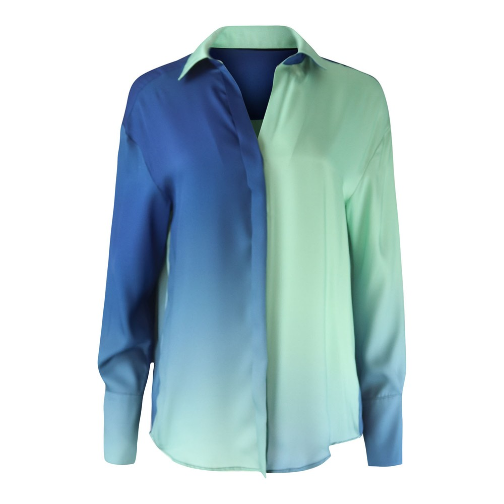 Sportmax Oregon Sateen Blouse Green/Blue