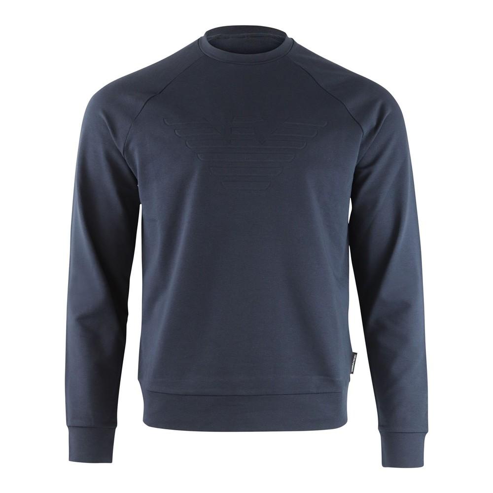 Emporio Armani Embossed Logo Sweatshirt Navy