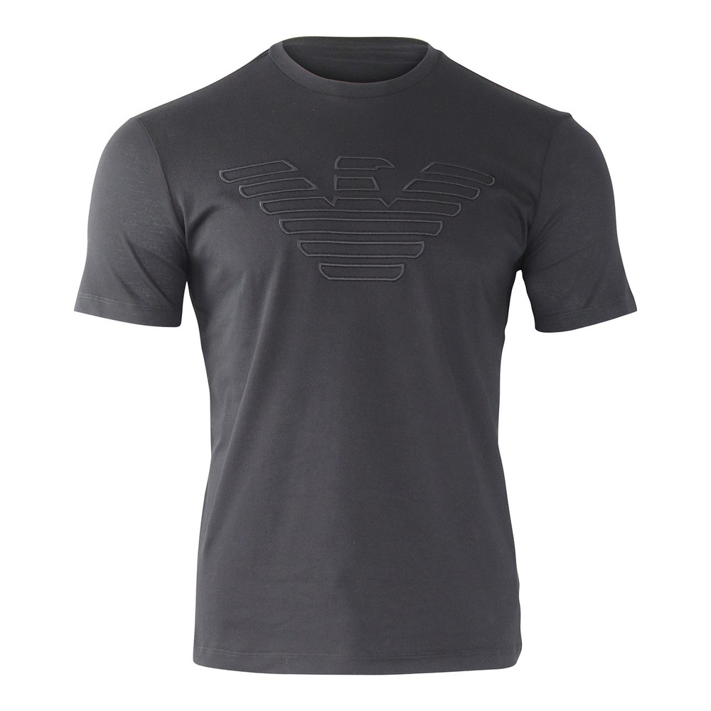 Emporio Armani Embroidered Eagle T-Shirt Black