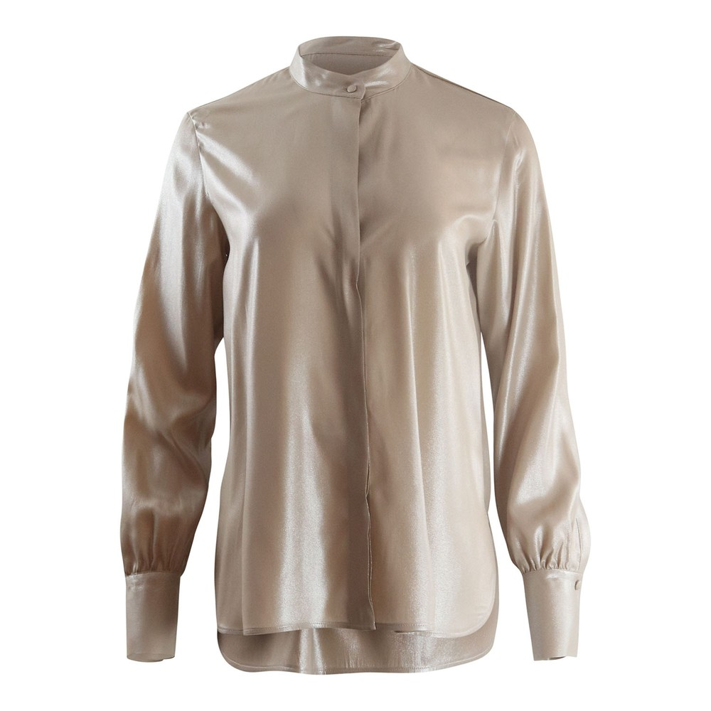Marella Vals Longsleeve Metallic Shirt Metallic
