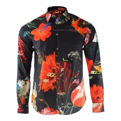 Paul Smith New Masters Floral Print Shirt