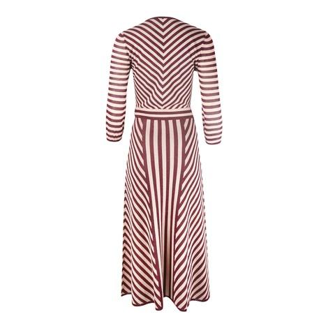Marella Long Sleeve Stripe Sparkle Midi Dress