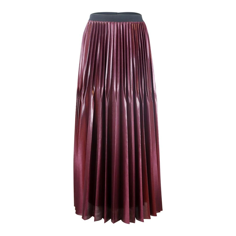 Marella Pleated Midi Skirt Bordeaux