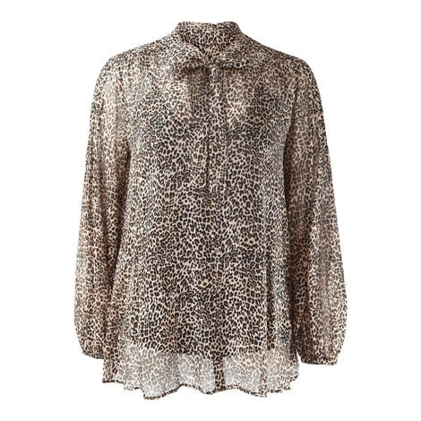 Marella Grace Longsleeve Leopard Blouse