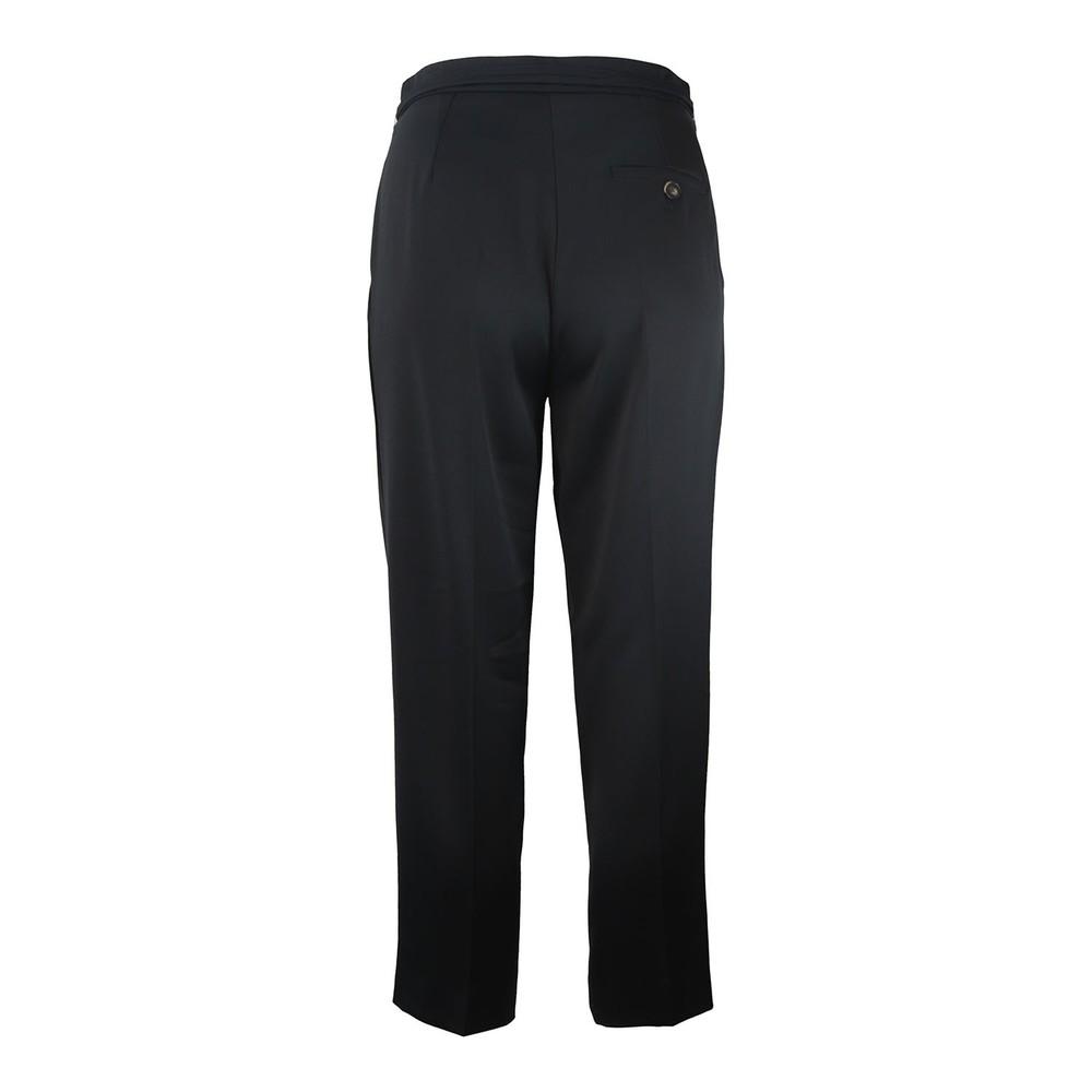 Marella Ondina Soft Sateen Wide Crop Trouser Black