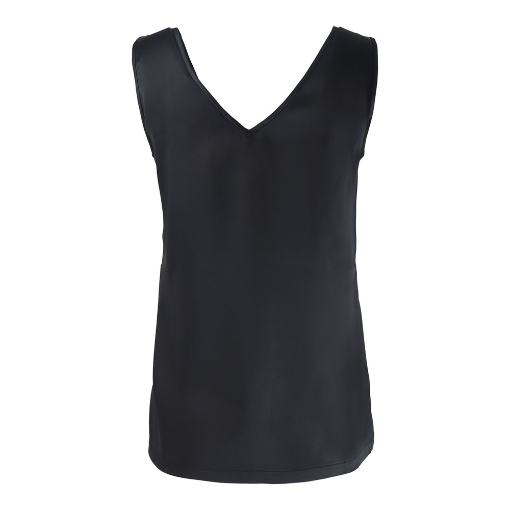Marella Berna V-Neck Satin Vest Black