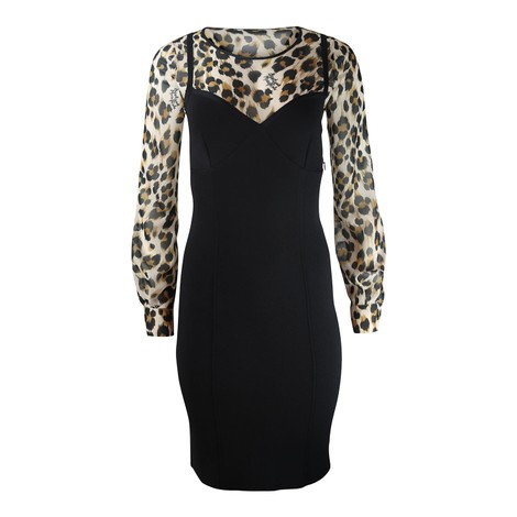 Moschino Boutique Leopard Print Corset Dress