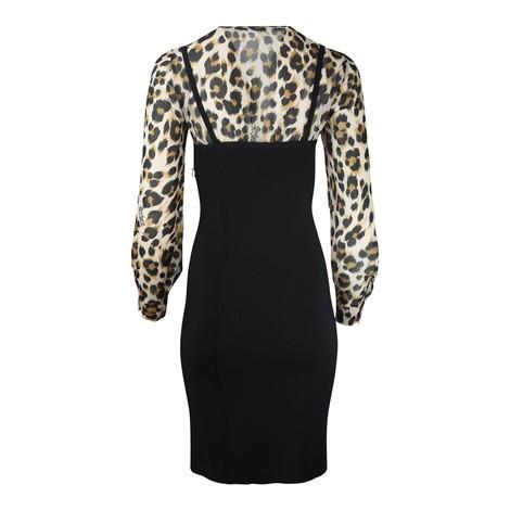 Moschino Boutique Leopard Print Corset Dress