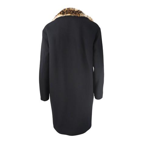 Moschino Boutique Leopard Trim Coat