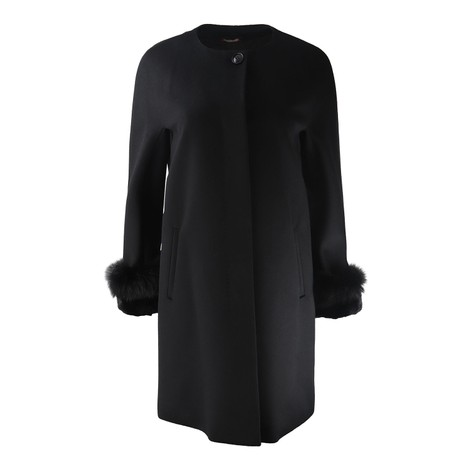 Maxmara Studio Fur Cuffed Coat