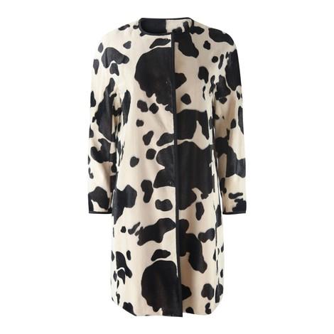 Maxmara Studio Cow Print Coat