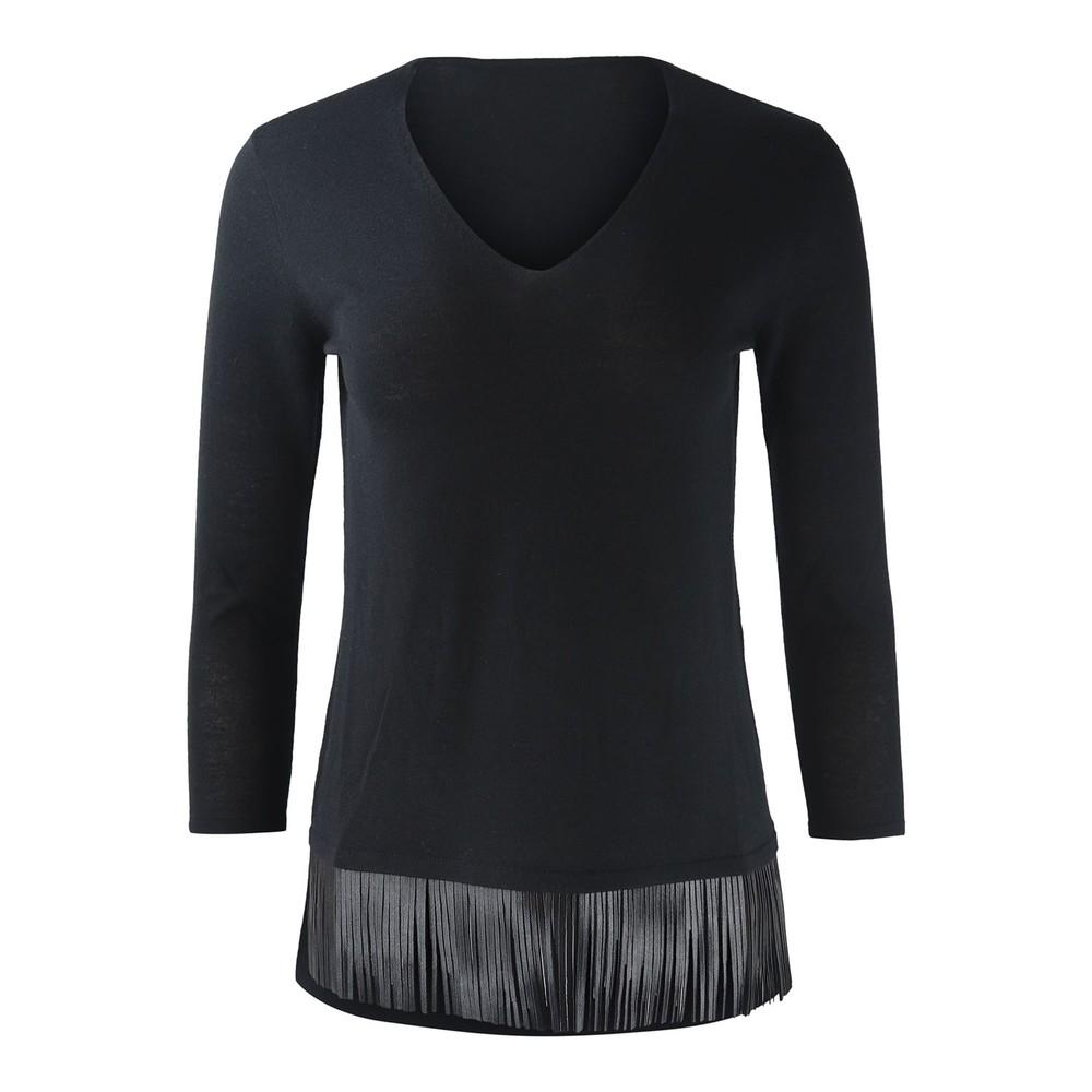 Maxmara Studio V Neck Knit Black
