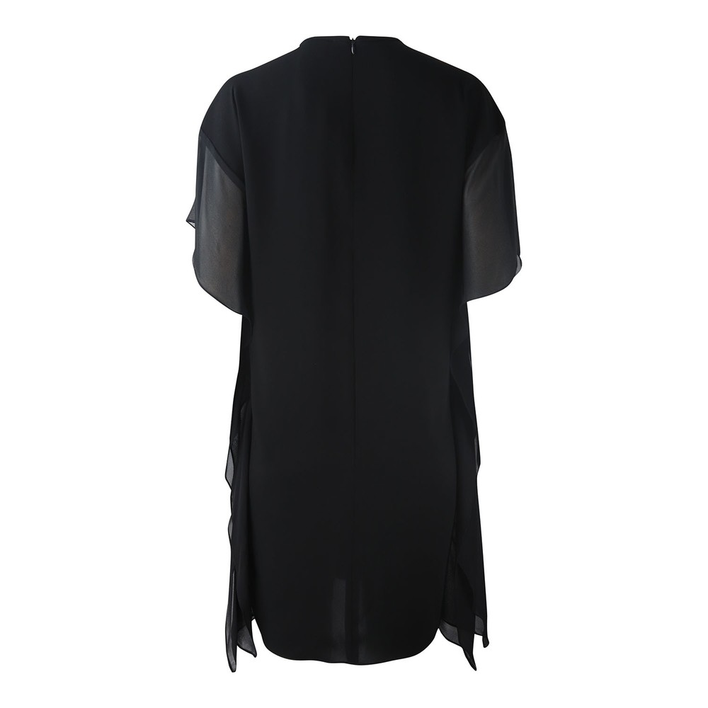 Maxmara Studio Frilled Side Dress Black