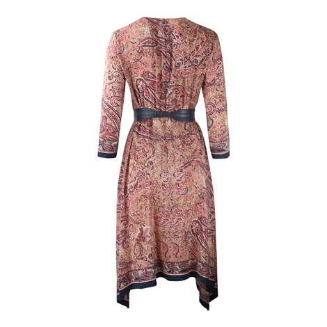 Maxmara Studio Paisley V Neck Dress