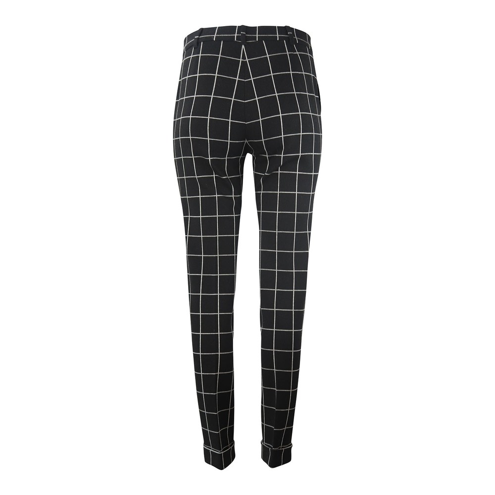 Maxmara Studio Check Trousers Black